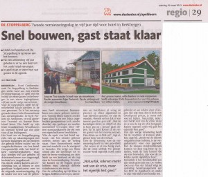 Artikel De Stentor za 10 maart 2012