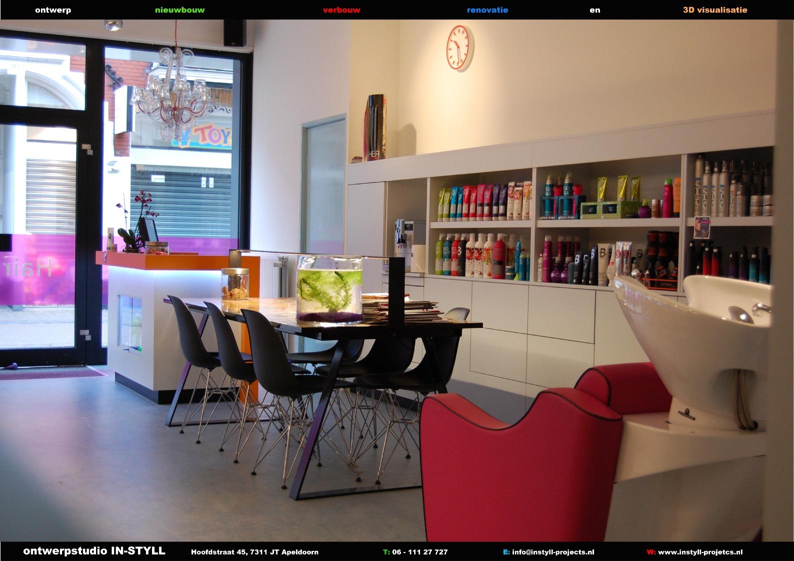 Kapsalon in styll projects for Interieur kapsalon