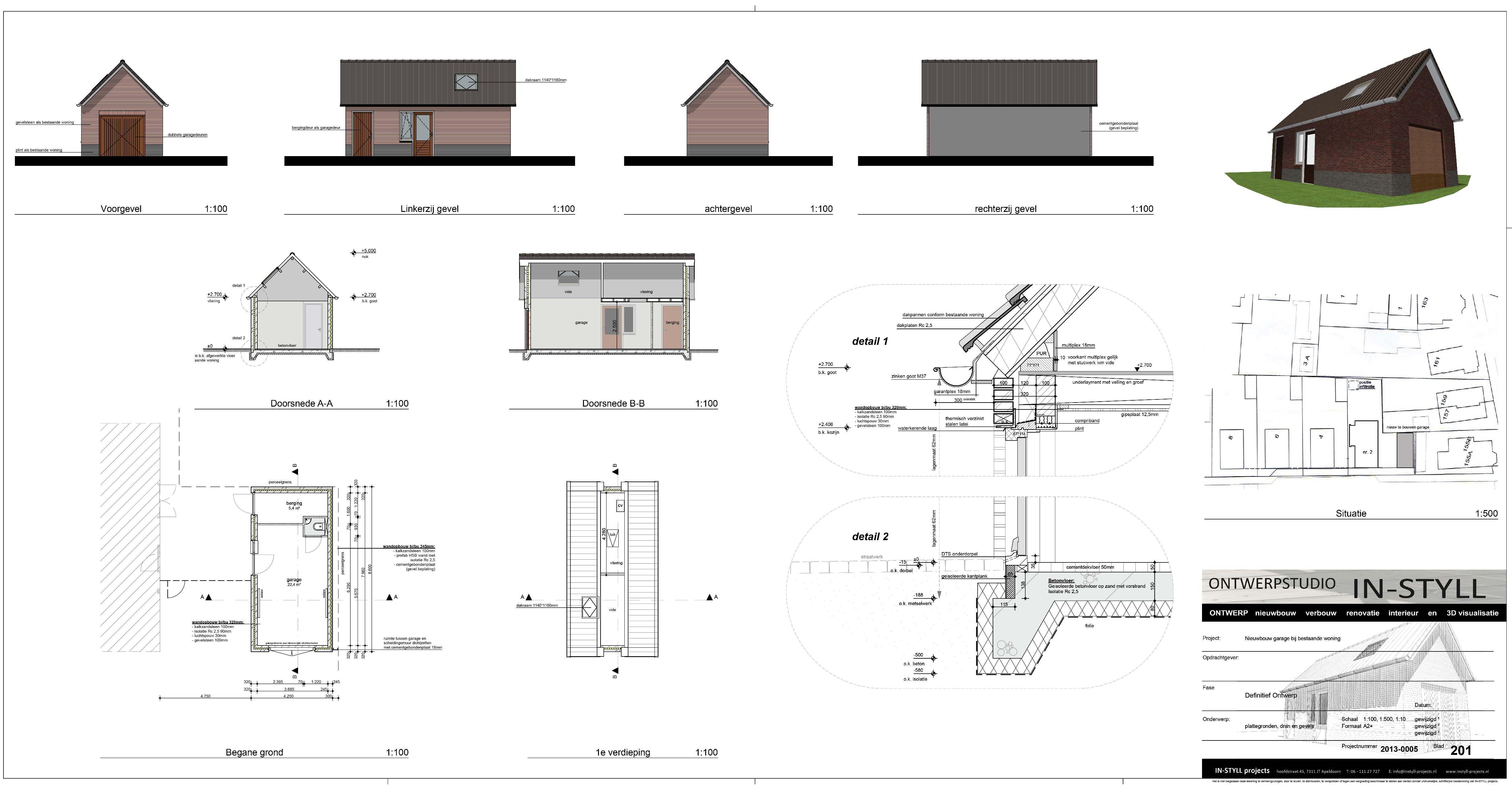 Nieuwbouw garage met kelder